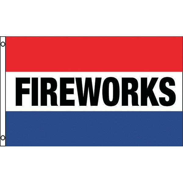 PNFLG1 RED WHITE BLUE FIREWORKS
