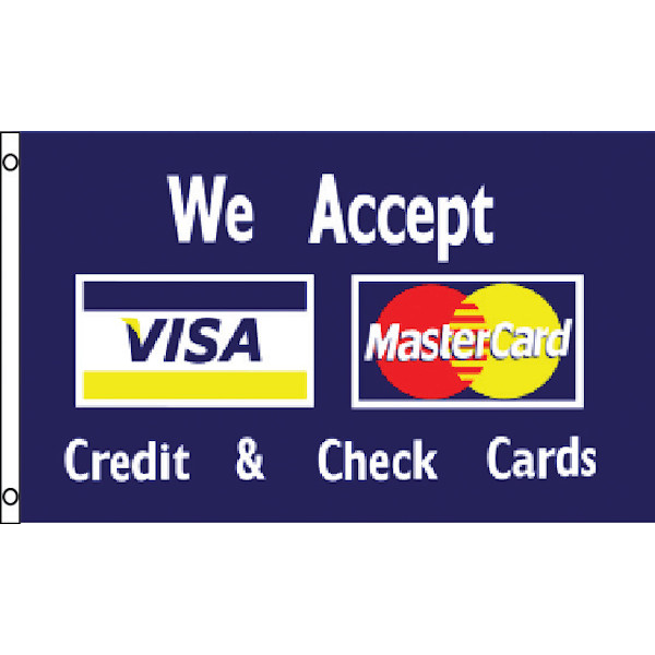 PNFLG5 WE ACCEPT VISA MC