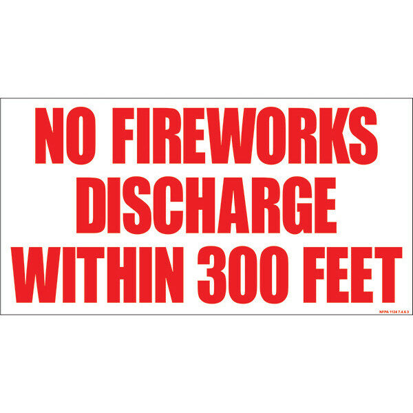 PNSGN2 14X29.5 NO FIREWORKS DISCHARGE