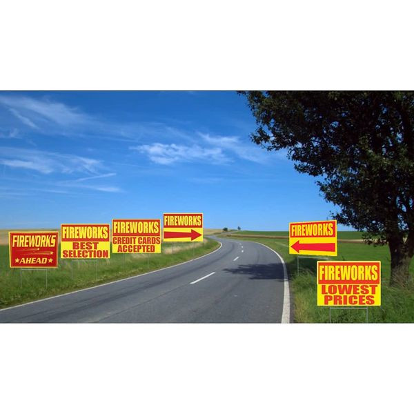 Corrugated Yard Signs All