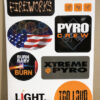 7x11 Pyro Sticker Sheet