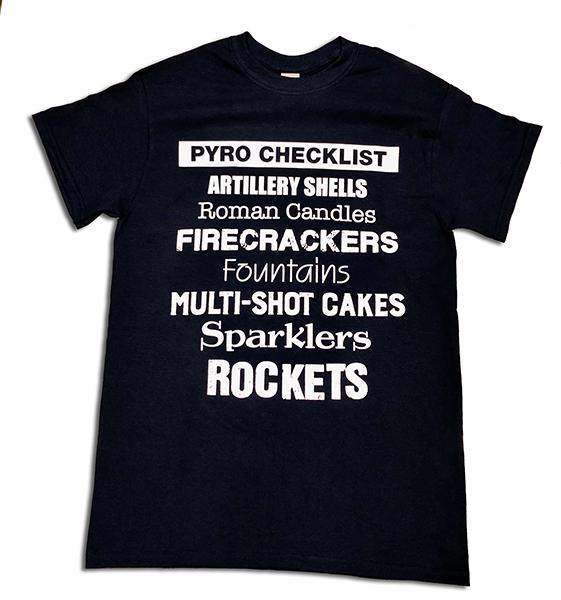 PYRO CHECKLIST TEE